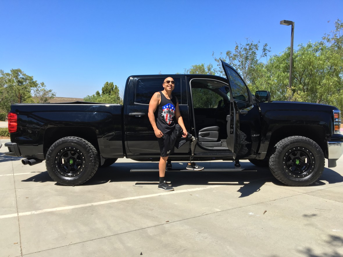 Injured Marine Josue Barron's Chevy Silverado Build